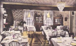 West Virginia Lewisburg The Dining Hall General Lewis Hotel Handcolored Alber...