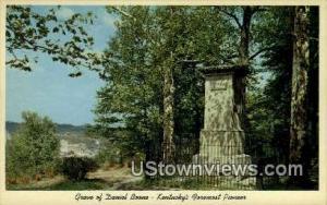Grave Of Daniel Boone Frankfort KY Unused