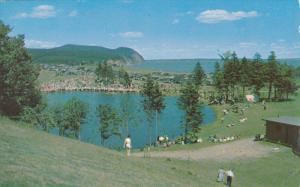 Canada's Motourland, Trees, Mountain, Fundy Park, New Brunswick,Canada, PU-1974