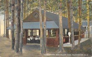 Restaurant Pine Island Park Manchester New Hampshire 1910c postcard