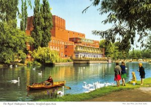 Warwickshire Postcard The Avon Royal Shakespeare Theatre Stratford Upon Avon FO9