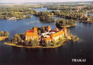 Lithuania Trakai Island Castle, Gothic Style Castle Panorama Chateau