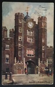 Entrance to St. James's Palace 1907 Raphael Tuck & Sons Oilette 6257