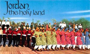 Jordan Old Vintage Antique Post Card Folklore Dances during Summer Festivals ...