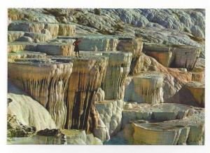 Turkey Pamukkale Travertine Calcium Rock Formations Postcard