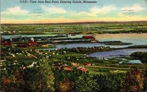 Minnesota Duluth View From Rest Point 1945 Curteich