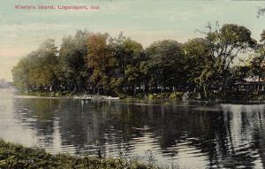 LOGANSPORT , Indiana, 1912; Klenly's Island