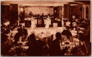 1939 Chicago, Illinois Postcard STEVENS HOTEL Nightclub / Show Girls - w/ Cancel