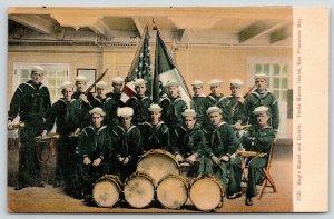 Yerba Buena Island CA Handcolored~Navy Band~Guns & Drums~Bugles & Bayonets~c1906