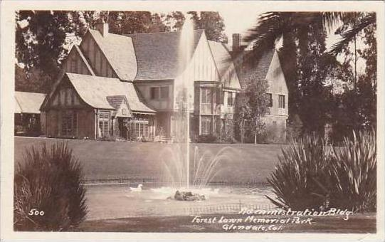 California Glendale Administration Bldg Forest Lawn Memorial Park Real Photo