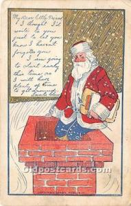 Santa Claus Postcard Old Vintage Christmas Post Card 1906