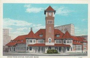 PORTLAND, Maine, 1900-10s; Grand Truck Railroad Station
