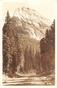 Mt Oberlin Montana Street Scene Real Photo Antique Postcard K79299