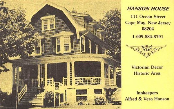 Hanson House in Cape May, New Jersey