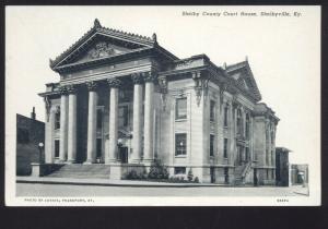SHELBYVILLE KENTUCKY SHELBY COUNTY COURT HOUSE VINTAGE POSTCARD KY.