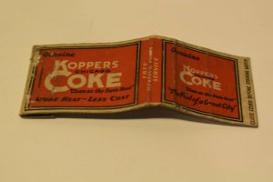 The Fuel of a Great City Genuine Koppers Coke Chicago 20 Strike Matchbook Cover