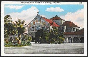 Memorial Church Stanford University Palo Alto California Unused c1920s