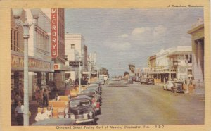 Florida Clearwater Cleveland Street Facing Gulf Of Mexico Dexter Press sk6231