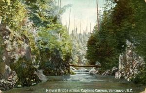 Canada - British Columbia. Capilano Canyon Natural Bridge