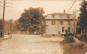 Milbridge ME Post Office Dirt Street in 1912 Real Photo Postcard