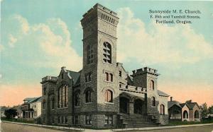 Portland OR~Neighborhood of Sunnyside United Methodist Episcopal~c1910 Postcard