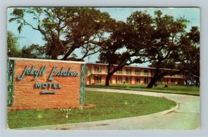 Jekyll Island GA- Georgia, Jekyll Estates Motel, Vintage Chrome Postcard
