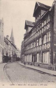 Maison Dite Des Quatrans, XVI Siecle, Caen (Calvados), France, 1910-1920s