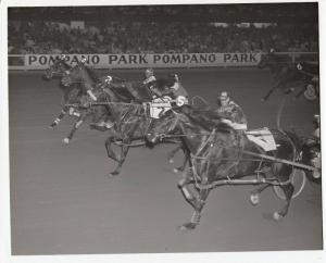 Pompano Park Harness Horse Race ,LOVERGIRLNIK wins , 1972