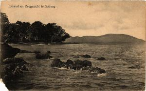 CPA Indonesia, Strand en Zeegezicht te Sabang (360347)