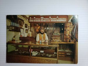 Vintage Postcard Silver Bar Jail & Jewelry Store Eric Drake Phoenix Arizona 1989