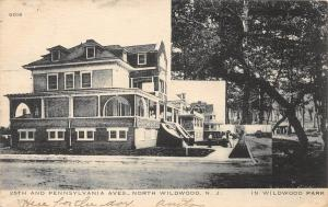 E2/ North Wildwood New Jersey NJ Postcard '09 25th Pennsylvania Aves Homes 2View