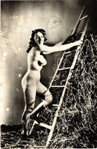 CPA AK coll. Privee Lyna-Paris femme. NUDE RISQUE real photo (500195)