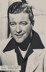 Dennis Morgan Belgium 1950s Postcard Size Film Actor Card