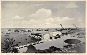 Singapore The New Pier Birds Eye View Vintage Postcard JB626728