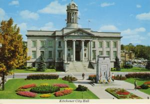 City Hall Kitchener ON Ontario Fred Curylo Unused Vintage Postcard D20