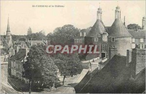 Old Postcard St Fargeau and Chateau