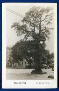 La Grange Texas tx Historic Oak real photo postcard RPPC