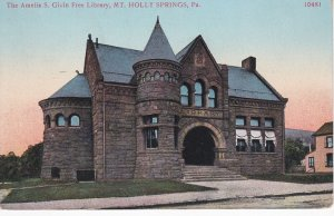 MT. HOLLY SPRINGS, Pennsylvania, 1900-1910's; The Amelia S. Givin Free Library