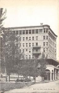 Eureka Springs Arkansas~Basin Park Hotel~Folks on Benches~Gray Photo~B&W 1910 PC
