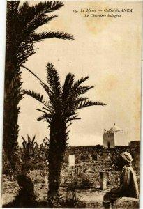 CPA AK Casablanca - Le Cimetiere Indigene MAROC (963239)