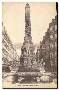 Old Postcard Lyon Monument Carnot