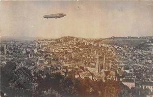 G42/ Foreign RPPC Postcard c1910 Stuttgart Germany Birdseye Blimp Zeppelin