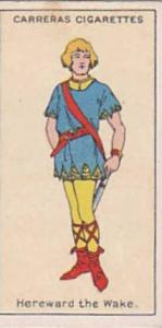 Carreras Vintage Cigarette Card Figures Of Fiction 1924 No 23 Hereward The Wake