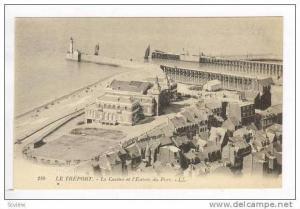 LE TREPORT, Le Casino et l'Entree du Port, Aerial Casino & Port, France, 00-10s