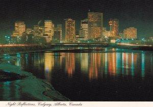 CALGARY, Alberta, 1950-1960s; Night Reflections