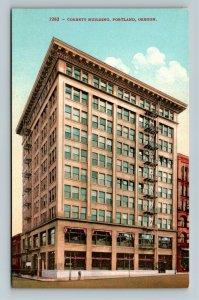 Portland OR-Oregon, Corbett Building, Vintage Postcard