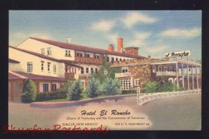 GALLUP NEW MEXICO ROUTE 66 HOTEL EL RANCHO LINEN ADVERTISING POSTCARD N.M.