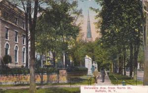 New York Buffalo Delaware Avenue From North Street