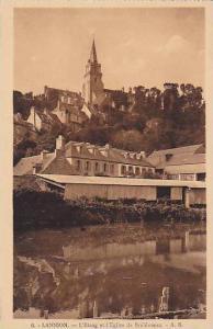 LANNION, L'Etang et l'Eglise de Brelevenez, Cotes d'Amor, France, 10-20s