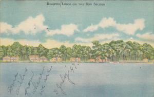 Kingfish Lodge On The Bon Secour Foley Alabama 1947
